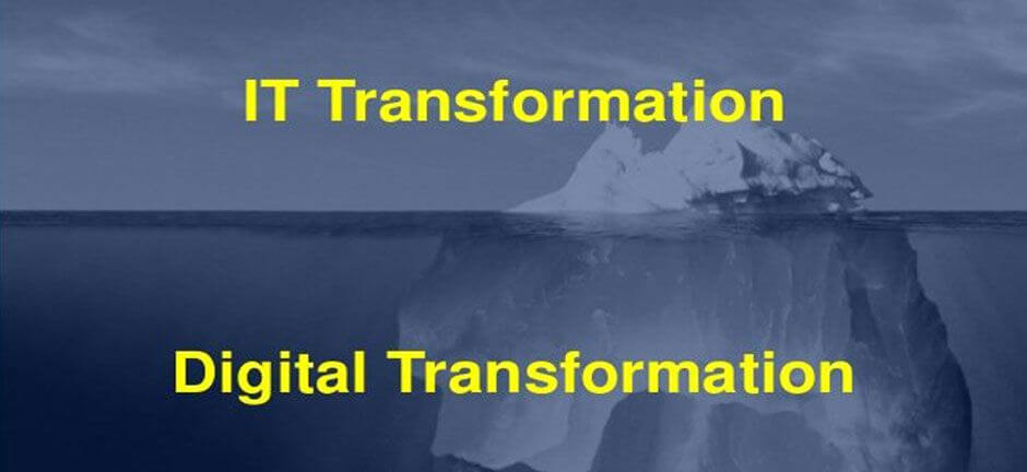 A Digital Transformation is different from IT transformation initiatives